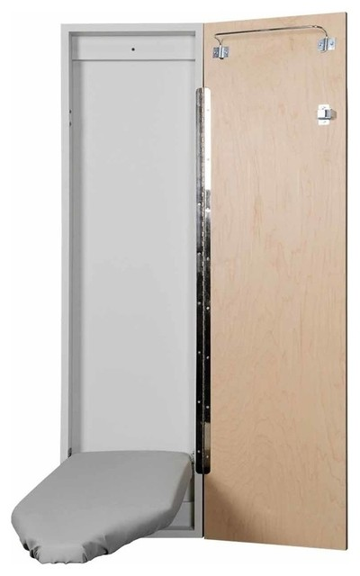 Economy Surface Or Flush Mount Ironing Center, Flat White Door.
