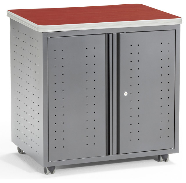 Mesa Locking Utility Cabinet - Contemporary - Storage Cabinets ...