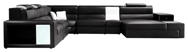 Astounding Soflex Dallas Contemporary Black Faux Leather Corner Sectional Sofa Right Chaise Gmtry Best Dining Table And Chair Ideas Images Gmtryco