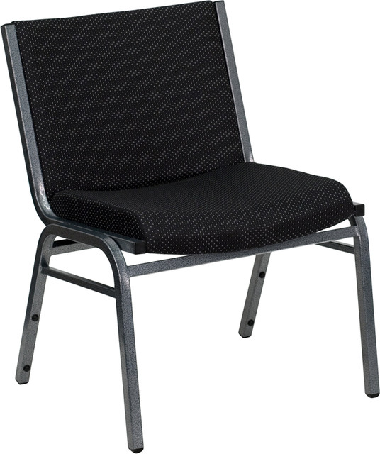 Hercules Series Big and Tall Extra Wide Fabric Stack Chair Black contemporary office