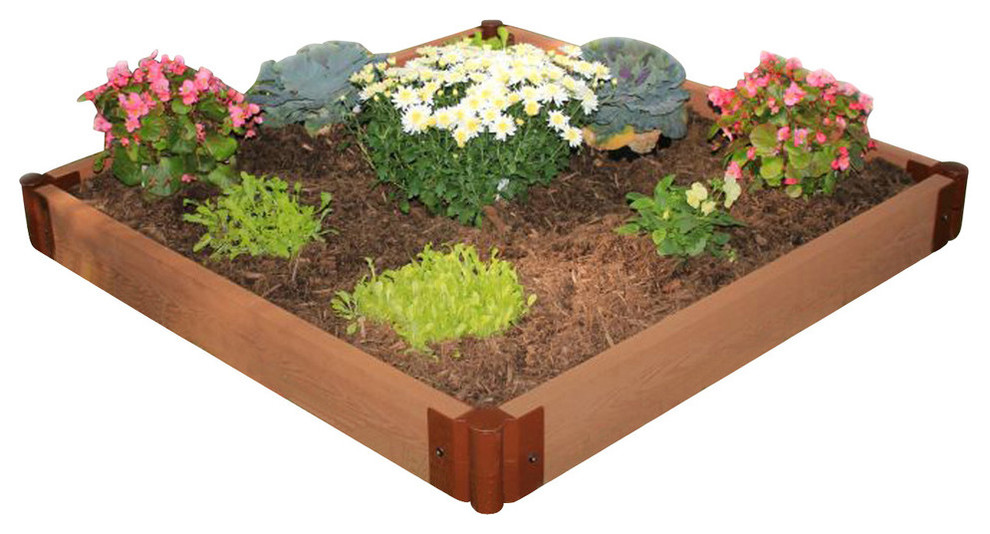 Two Inch Series 4 X12 X11 Composite Raised Garden Bed Kit Transitional Outdoor Pots And Planters By Frame It All Tm
