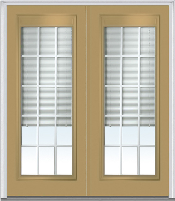 Low e glass mini blinds 15 lite fiberglass sandal double for 15 lite door exterior