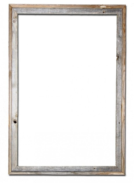 "Nash Barn Wood Reclaimed Open Frame, 24""x36""."