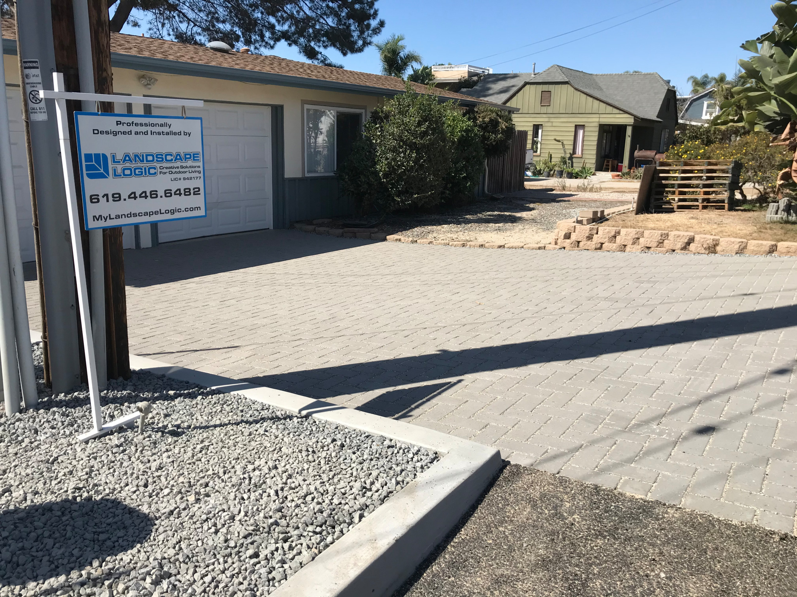 Paver Driveway Complete in Solana Beach