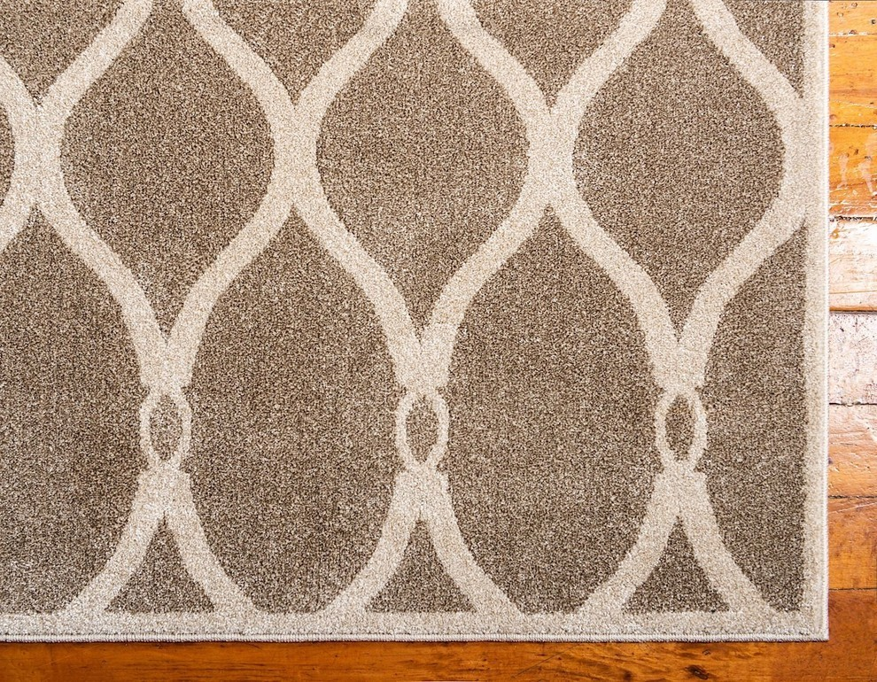 Contemporary Theodora Bamboo Area Rug Mediterranean Hall And Stair Runners By Rugpal