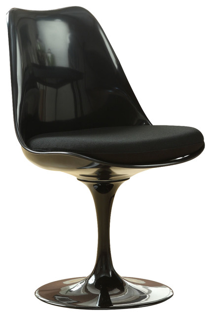 Lippa Dining Upholstered Fabric Side Chair, Black