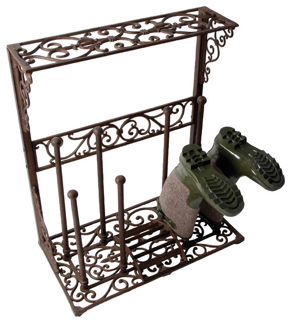 Cast Iron Boot Rack Traditional Shoe Storage By Parpadi