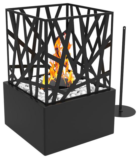 Regal Flame Bruno Ventless Tabletop Portable Bio Ethanol Fireplace, Black