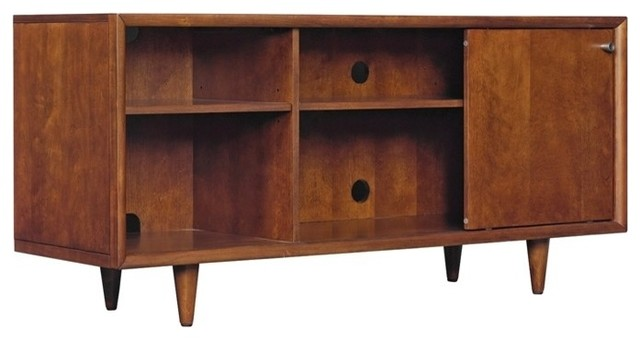 Fairgrove Tv Stand For Tvs Up To 60 Inches Mahogany Cherry