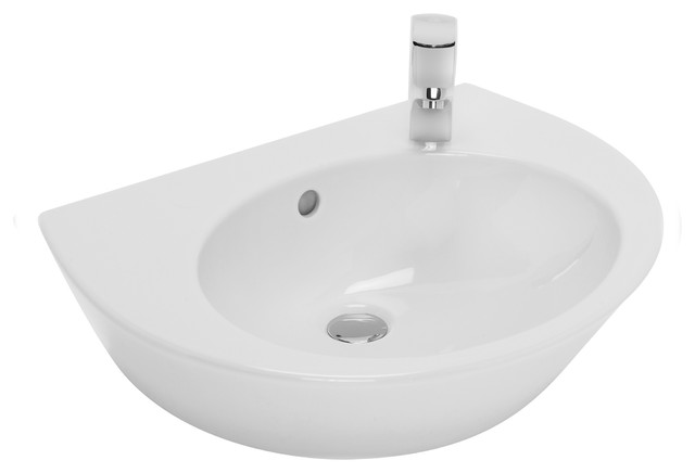 "Pop/steet 20"" Wall Mounted Bathroom Ceramic Sink With Overflow."
