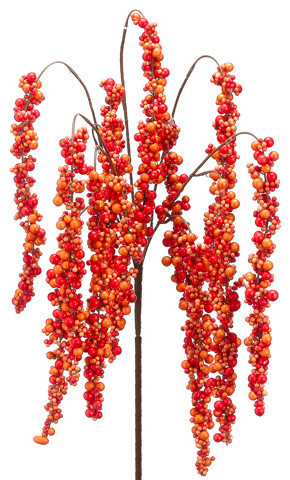 Silk plants direct cluster berry hanging bush pack of 12 silk plants direct cluster berry hanging bush pack of 12 orange mightylinksfo