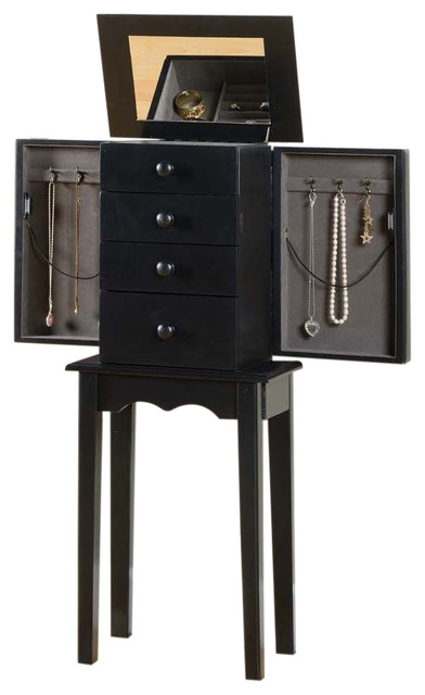 Promo 3-Drawer Jewelry Armoire - Modern - Jewelry Armoires - by Nathan Direct