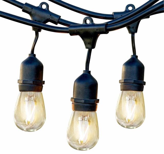Brightech AmbiencePro Incandescent String Lights 11Watt S14, 48 Ft Strand