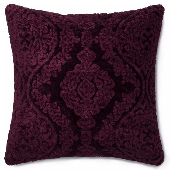 Eggplant Mirage Throw Pillow, Cover With Down Fill.