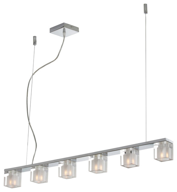 Blocs 6 Light Linear Pendant Modern Lighting By Inmod  sc 1 st  Light Fixtures & Linear Pendant Light Fixtures - Light Fixtures azcodes.com