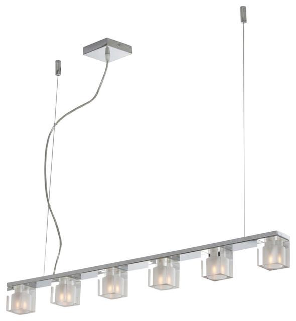 Blocs 6Light Linear Pendant  Modern  Pendant Lighting  by Inmod