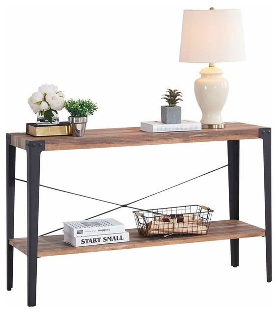 Rustic Console Sofa Table Mdf With