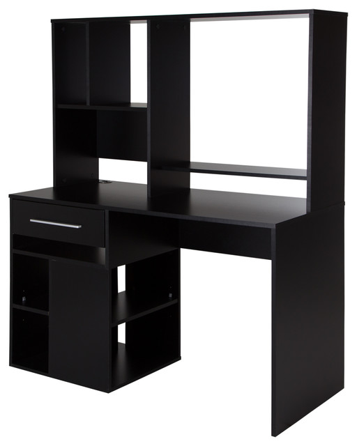South Shore Annexe Home Office Computer Desk, Pure Black
