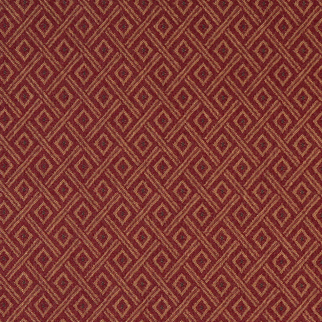 Dark Red And Gold Diamond Heavy Duty Crypton Fabric By The Yard