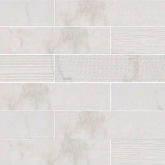 Clique White Carrara Mix Subway Tile 4 X16