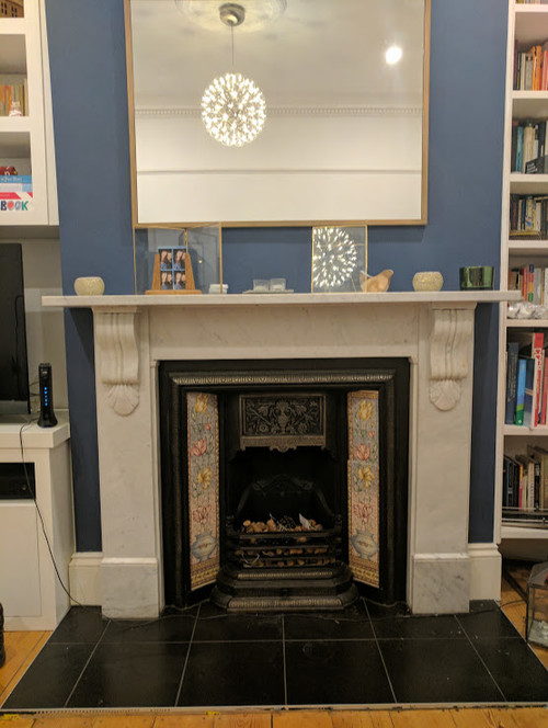 Lovely Retiling fireplace hearth & victorian inserts HL02
