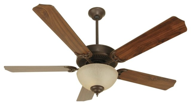 "Craftmade Pro Builder 208 K10647 Cd Unipack Ceiling Fan, Aged Bronze, 52""."