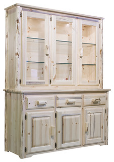 Superb Stillwater Sideboard And Hutch   Rustic   China Cabinets And Hutches   By  Montana Woodworks