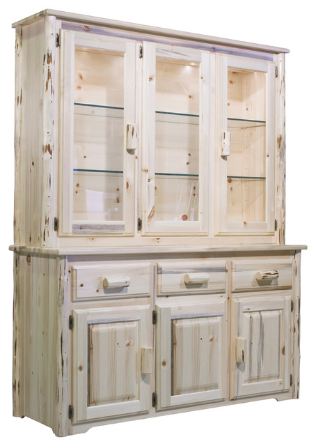 montana collection china hutch rustic china cabinets. Black Bedroom Furniture Sets. Home Design Ideas
