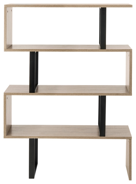Safavieh Louise Retro Mid Century Wood Etagere transitional-bookcases