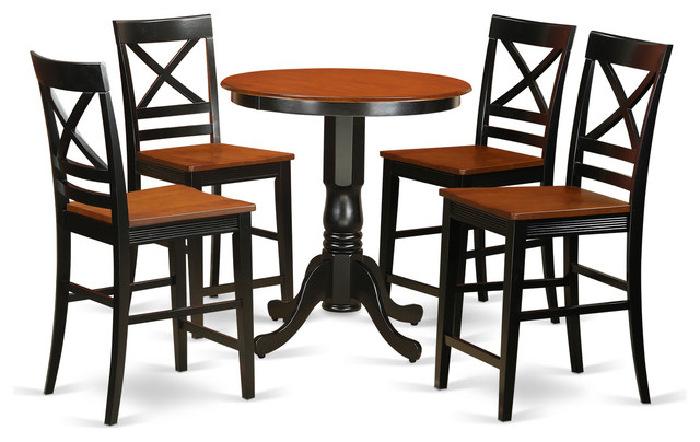 dining table set 5 pieces transitional indoor pub and bistro sets
