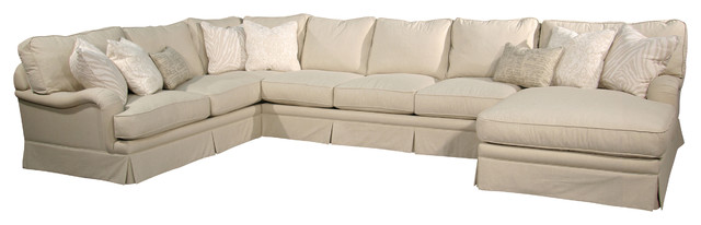 Pacific Coast Cream 3 Piece Sectional Cream Right sectional-sofas  sc 1 st  Houzz : 3 piece sectional couches - Sectionals, Sofas & Couches