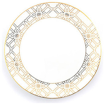 Gold Astor Dinner Plate  sc 1 st  Houzz & Gold Astor Dinner Plate - Traditional - Dinner Plates - by B by Brandie