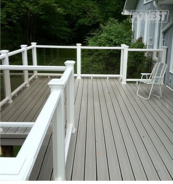 Composite decking pvc decking traditional patio for Garden decking composite