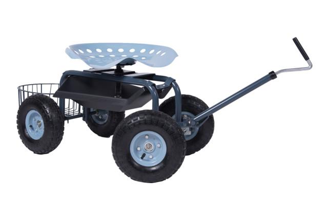 Scoot N Steer Rolling Garden Seat Farmhouse Wheelbarrows And Garden