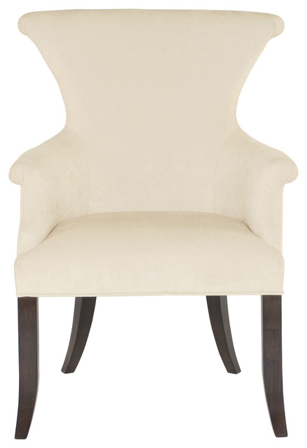 Crawford Modern Classic Ring Pull Ivory Armchair, Pair modern-dining-chairs