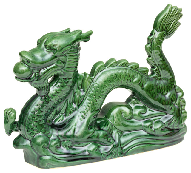 Green Imperial Dragon Statue