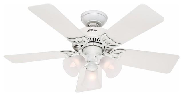 "Hunter 42"" Indoor Ceiling Fan - 5 Reversible Blades And Light Kit."