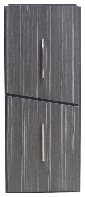 """12""""x30"""" Modern Plywood-Melamine Modular Drawer, Dawn Gray."""