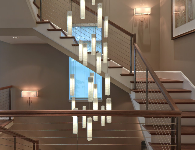 stairwell lighting. tanzania chandelier contemporary living room stairwell light fixture contemporarystaircase lighting m