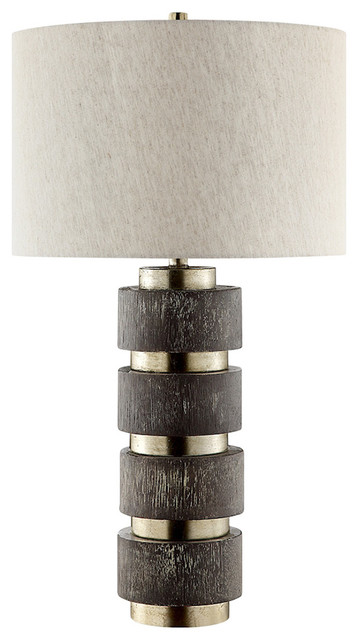 Stein World Paradoxdark Brown And Silver Table Lamp.