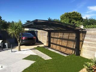 un carport autoportant moderne rennes par envie jardin. Black Bedroom Furniture Sets. Home Design Ideas