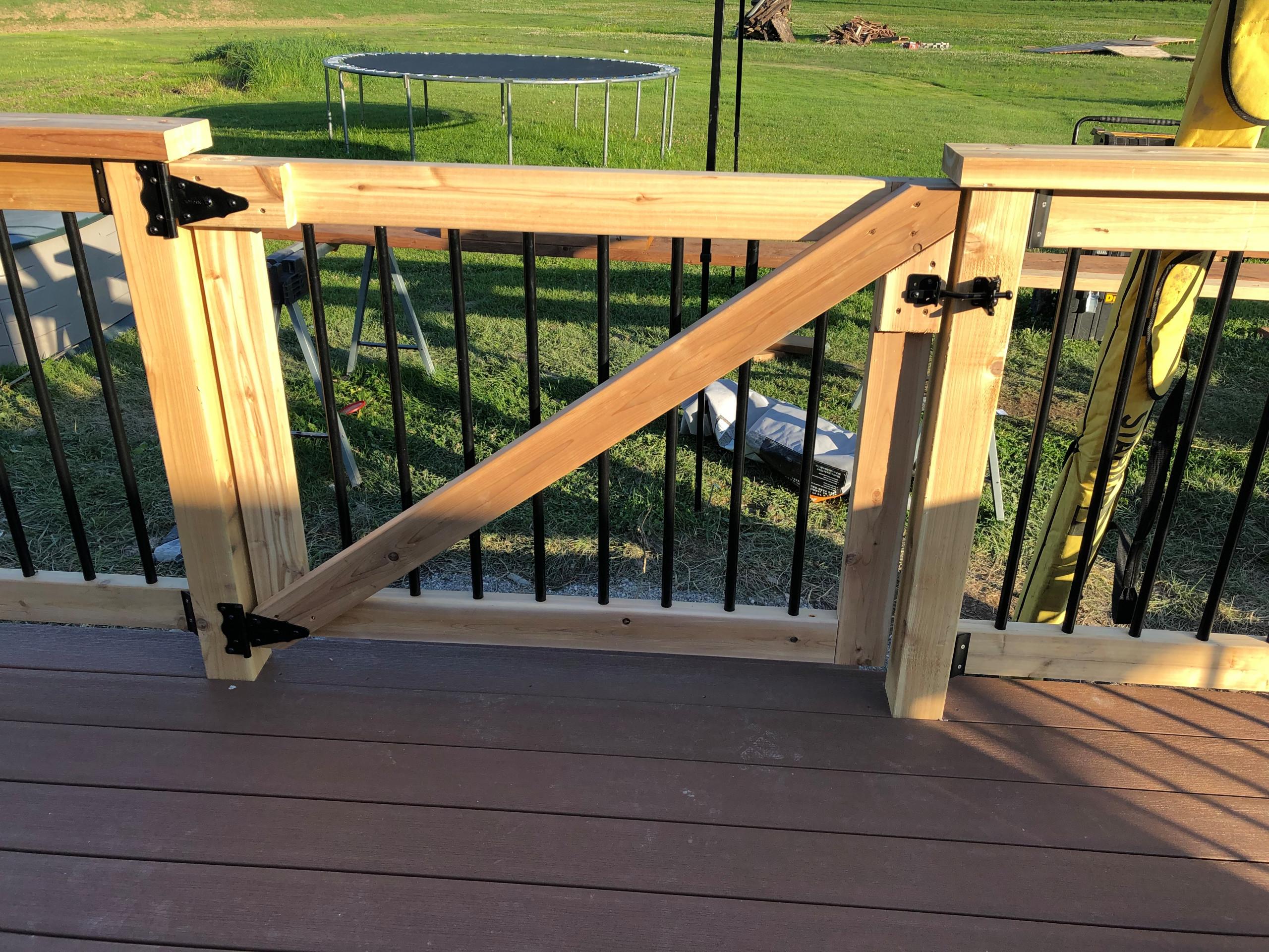 timbertech composite and cedar railing