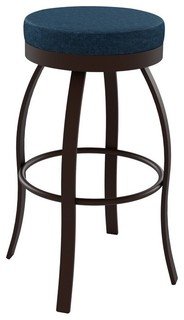 """Amisco Swan Backless Swivel Stool 42496, 26"""", Counter Height"""