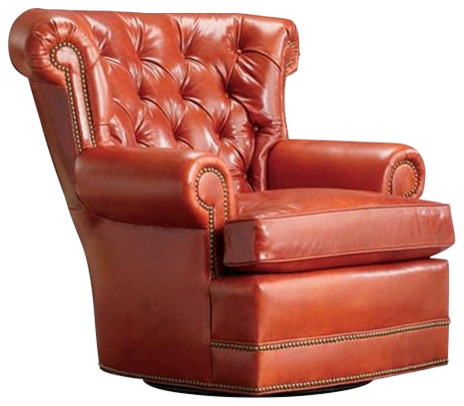 Remarkable Rockwood Tufted Swivel Armchair Burnt Orange Squirreltailoven Fun Painted Chair Ideas Images Squirreltailovenorg
