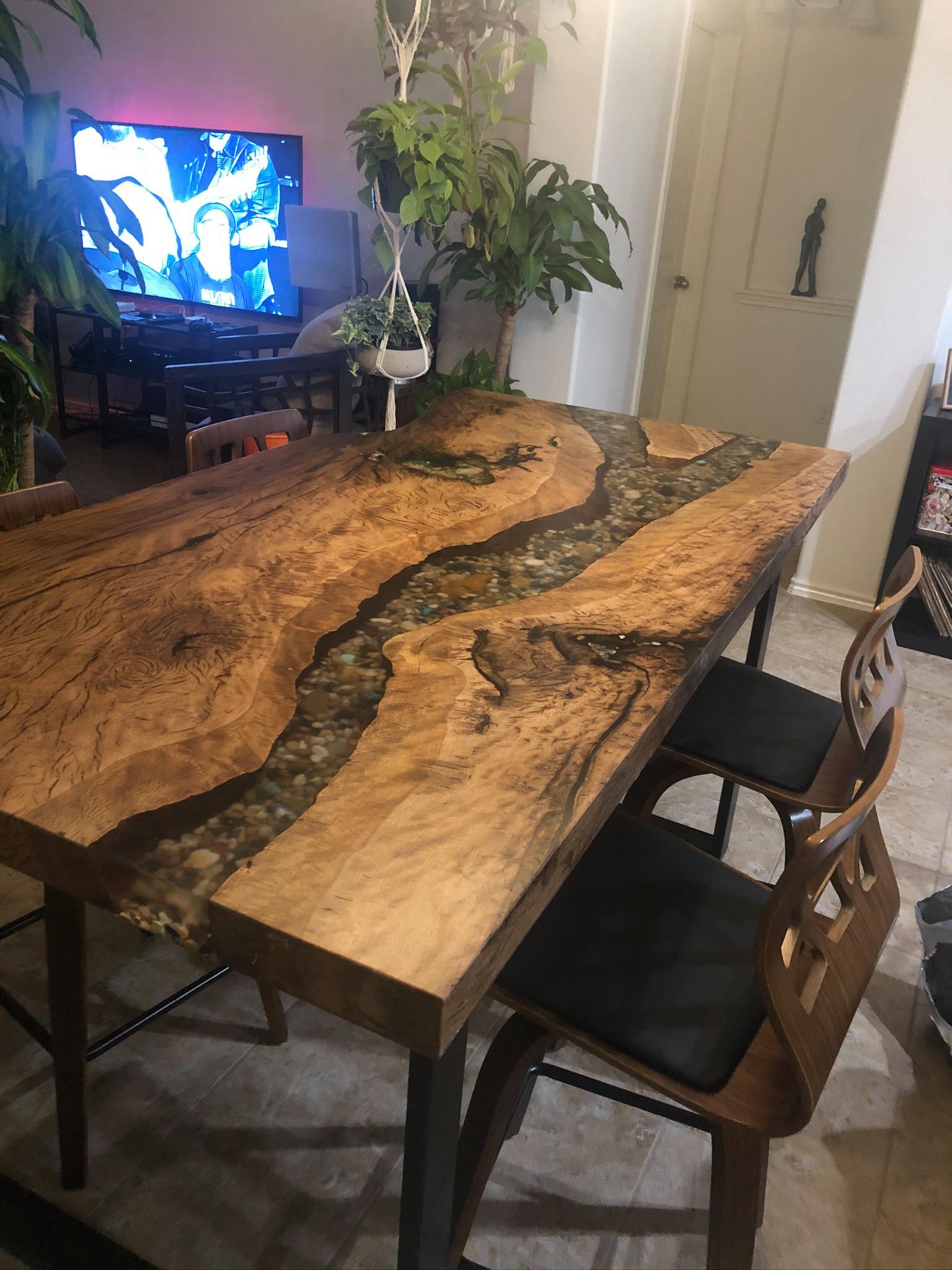 Deep Epoxy Pour Furniture