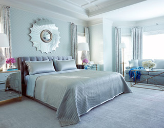 Glamorous Blue Home Decorating - House Beautiful traditional bedroom