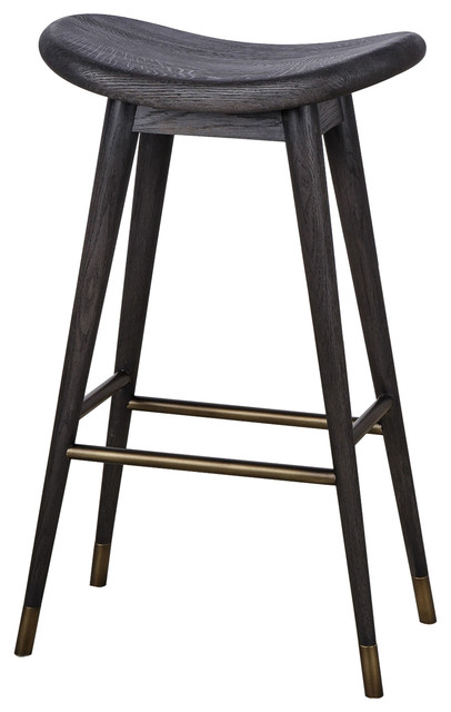 Fantastic Thomas Bina Smith Modern Classic Black Wood Bar Counter Stool Gmtry Best Dining Table And Chair Ideas Images Gmtryco