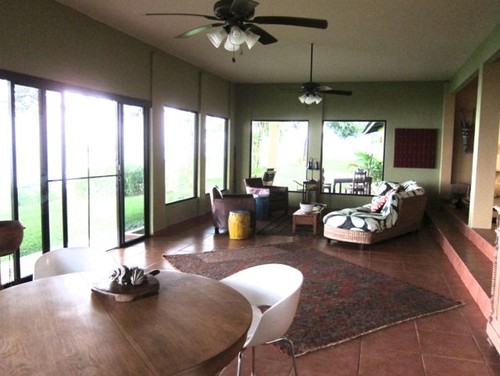 need help with turning an existing room into a patio kitchen dining living room