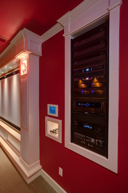 Home Theater Equipment Rack Traditional