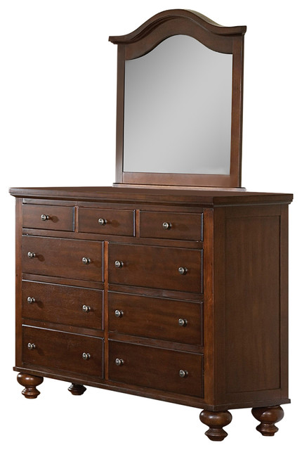 Royal Cherry Dresser And Mirror.